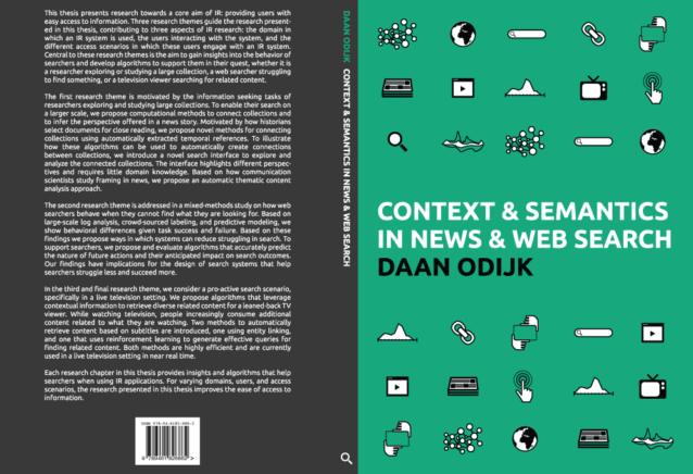 Thesis cover of Daan Odijk's PhD thesis